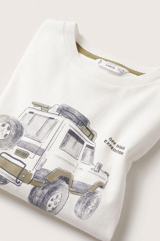 Mango Kids - Dětská bavlněná košile s dlouhým rukávem Jeep  100% Bavlna
