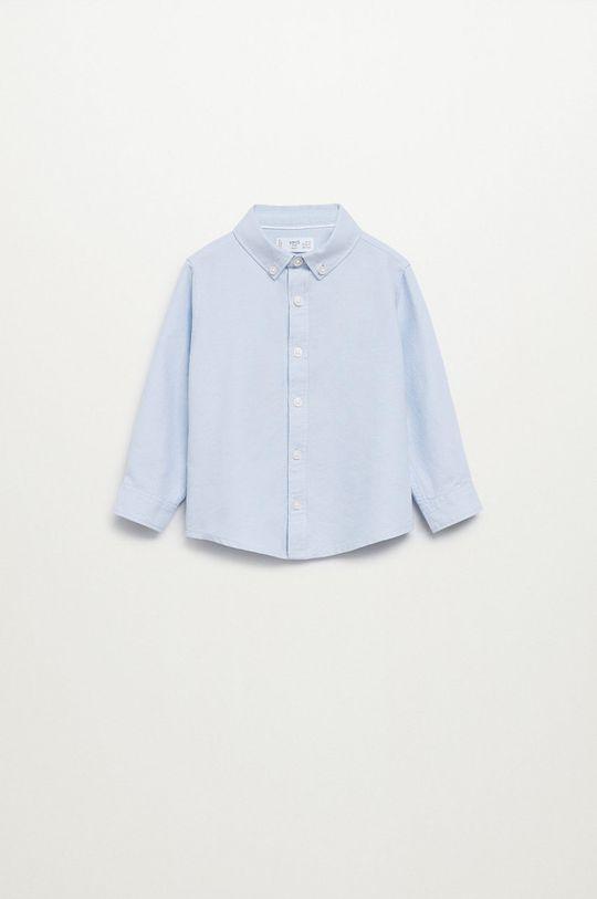 blady niebieski Mango Kids - Koszula bawełniana dziecięca Oxford Chłopięcy