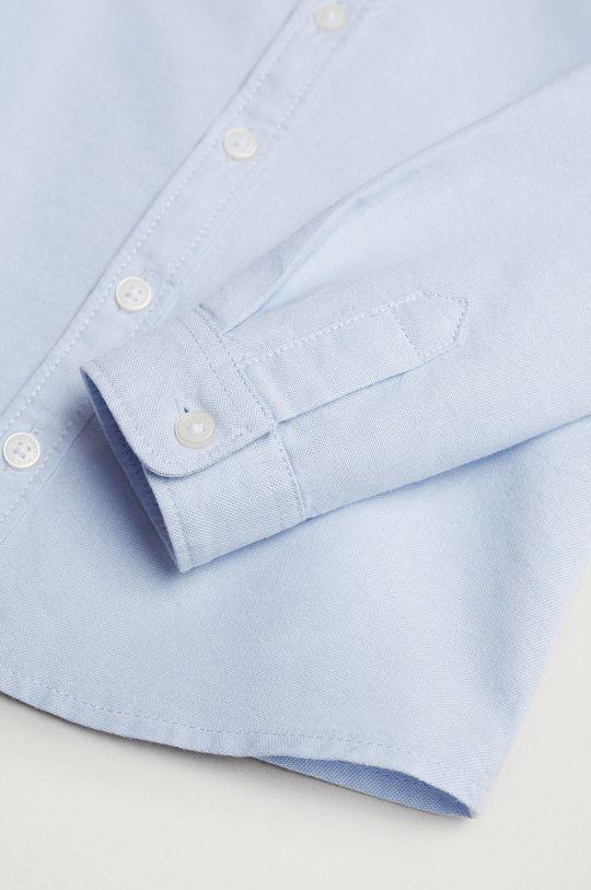 Mango Kids - Koszula bawełniana dziecięca Oxford blady niebieski