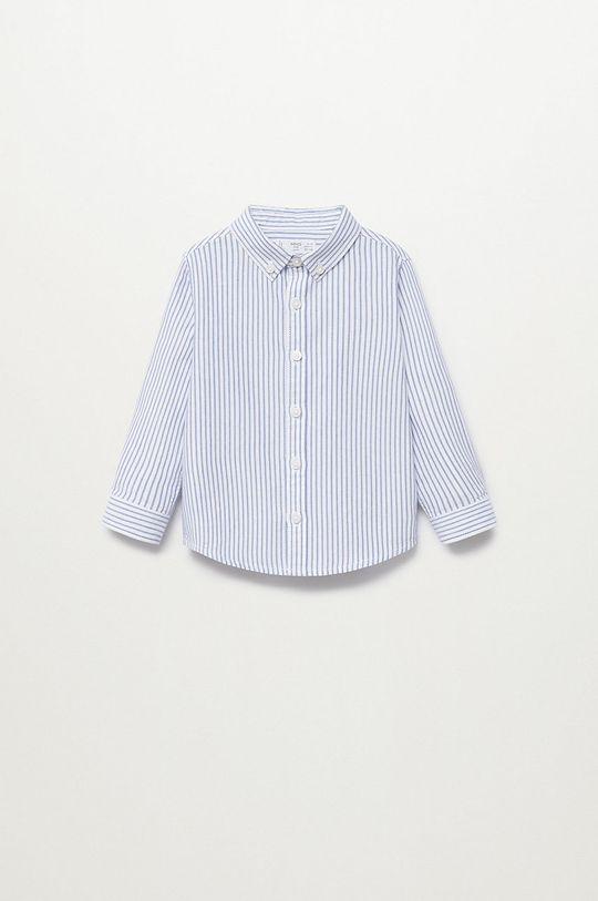 niebieski Mango Kids - Koszula bawełniana dziecięca Oxford Chłopięcy