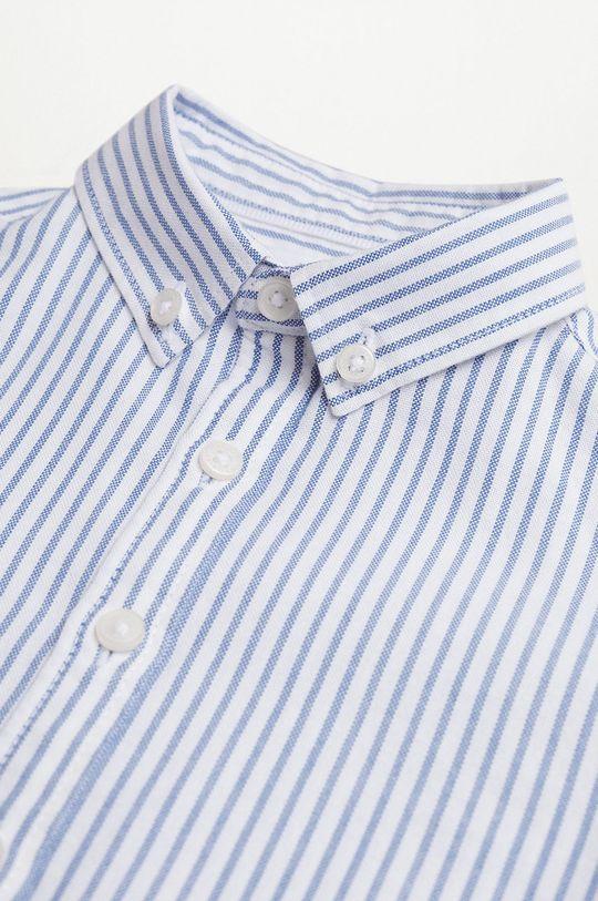 Mango Kids - Koszula bawełniana dziecięca Oxford niebieski