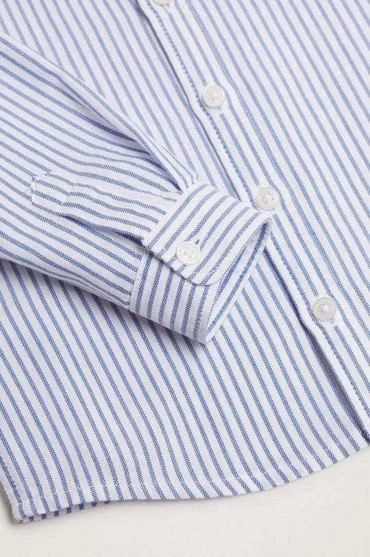 Mango Kids - Koszula bawełniana dziecięca Oxford 100 % Bawełna