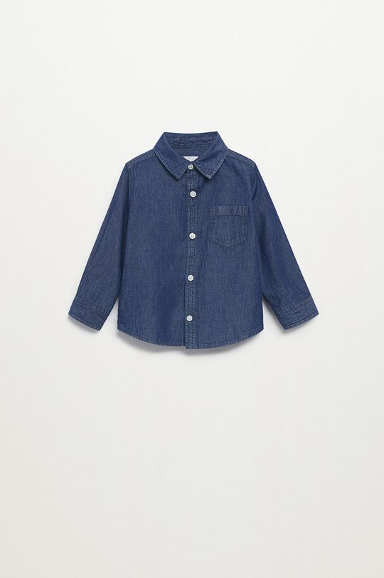 morská modrá Mango Kids - Detská košeľa DANIEL Chlapčenský