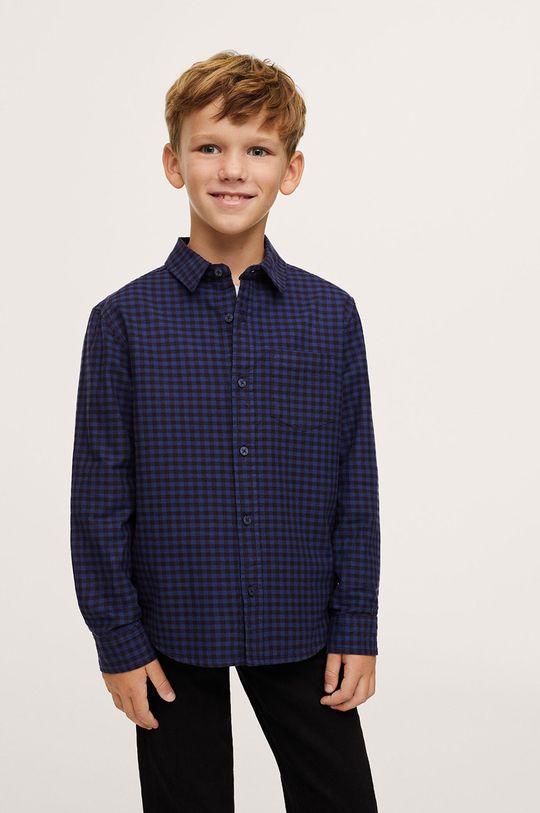 modrá Mango Kids - Detská bavlnená košeľa MARC Chlapčenský