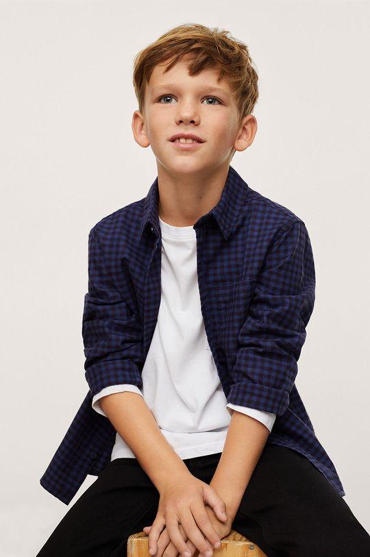 Mango Kids - Detská bavlnená košeľa MARC  100% Bavlna