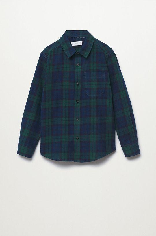 zelená Mango Kids - Detská bavlnená košeľa Lenny Chlapčenský