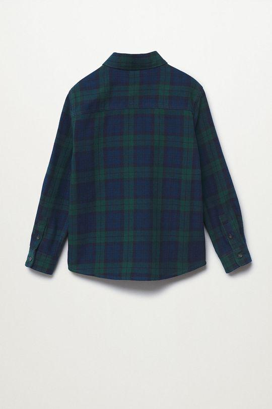 Mango Kids - Detská bavlnená košeľa Lenny zelená