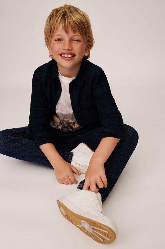 Mango Kids - Detská bavlnená košeľa Lenny  100% Bavlna