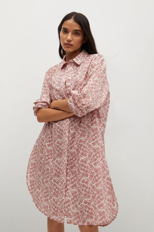 bílá Mango - Bavlněné tričko Korfu Dámský