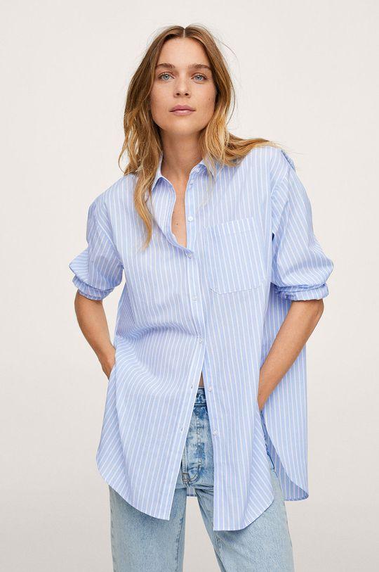 modrá Mango - Bavlnená košeľa James Dámsky