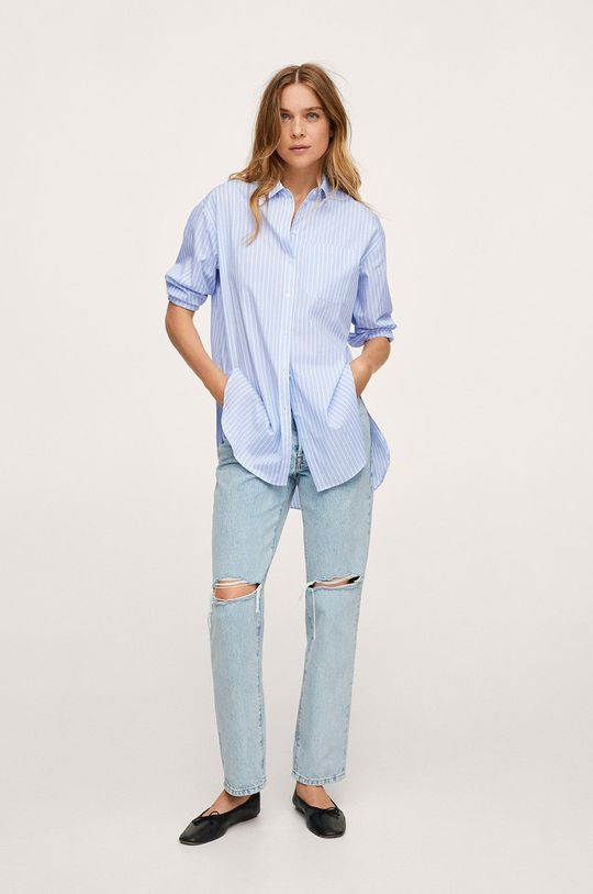 Mango - Bavlnená košeľa James modrá