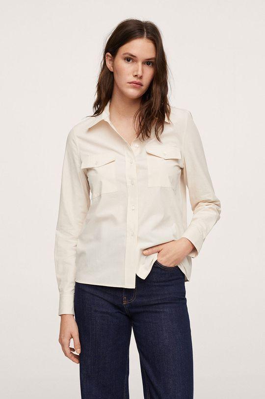 bílá Mango - Bavlněná košile Paris Dámský