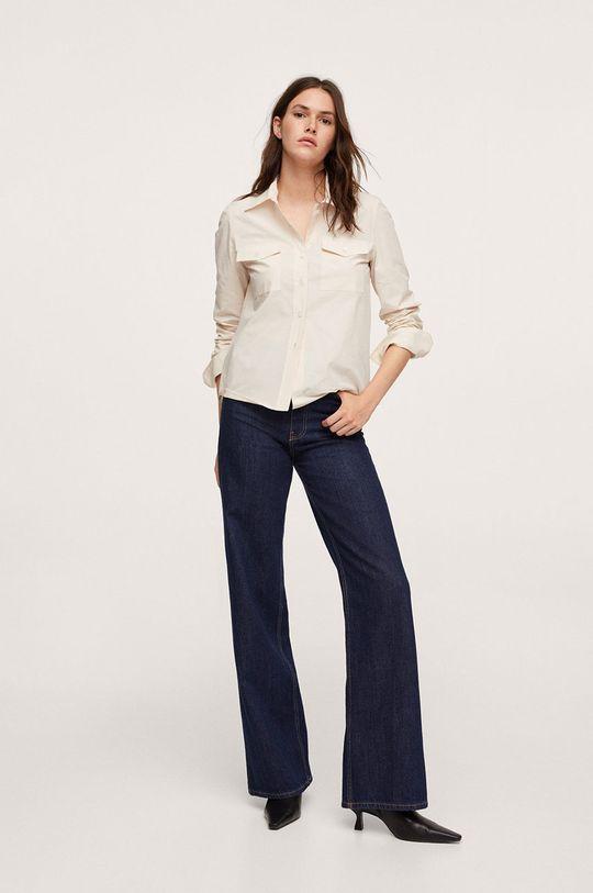 Mango - Bavlněná košile Paris bílá