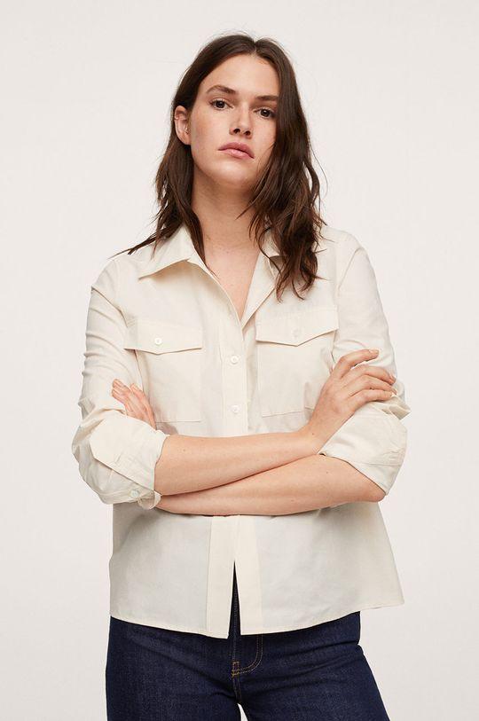 bílá Mango - Bavlněná košile Paris
