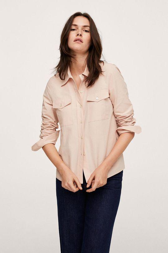 růžová Mango - Bavlněná košile Paris Dámský