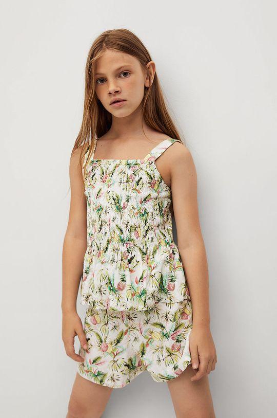 biały Mango Kids - Bluzka dziecięca Lulu 110-164 cm Dziewczęcy
