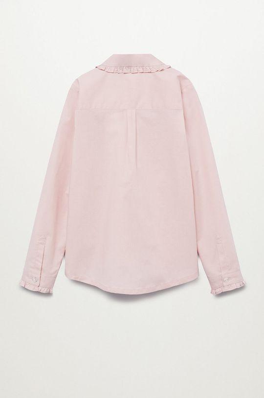 Mango Kids - Koszula dziecięca Luisa różowy