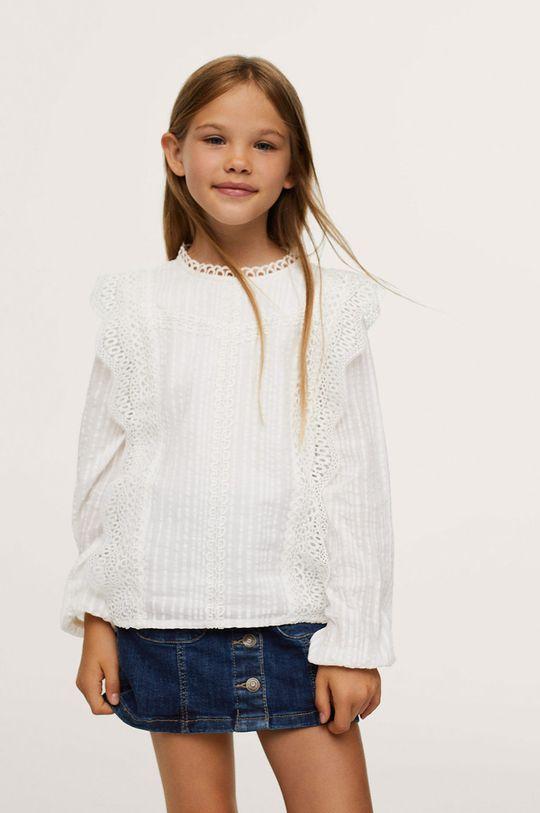 biela Mango Kids - Detská bavlnená košeľa Daniela Dievčenský