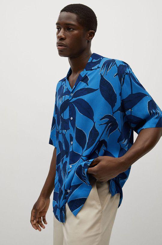 modrá Mango Man - Košile Andrieu Pánský