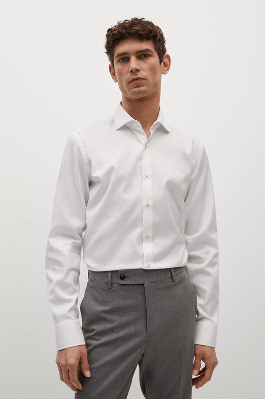 biały Mango Man - Koszula bawełniana Marta Męski