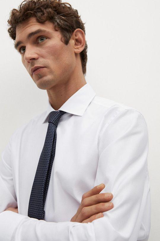 biały Mango Man - Koszula bawełniana Emeritol Męski