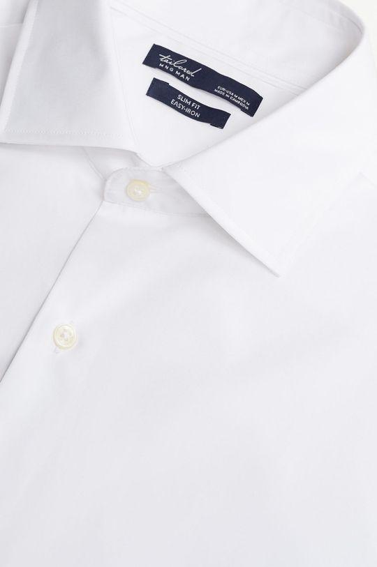 Mango Man - Koszula bawełniana Emeritol biały
