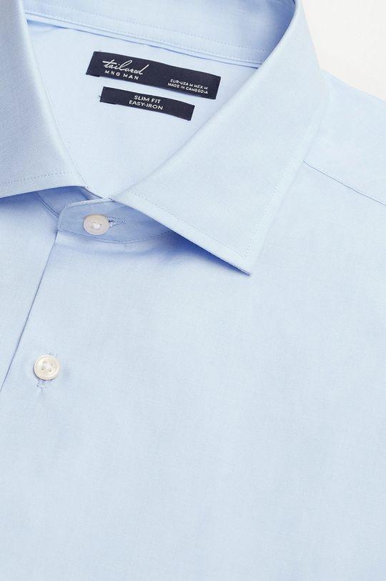 Mango Man - Koszula bawełniana Emeritol blady niebieski