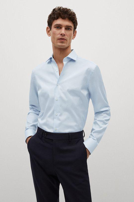 blady niebieski Mango Man - Koszula bawełniana Emporda Męski