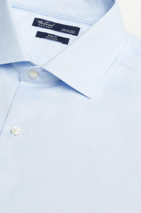 Mango Man - Koszula bawełniana Emporda blady niebieski