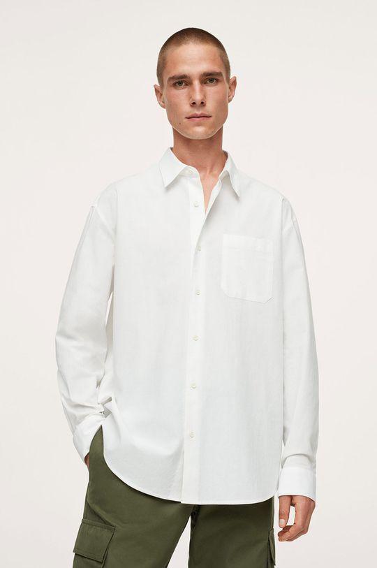 biały Mango Man - Koszula bawełniana Nadia Męski