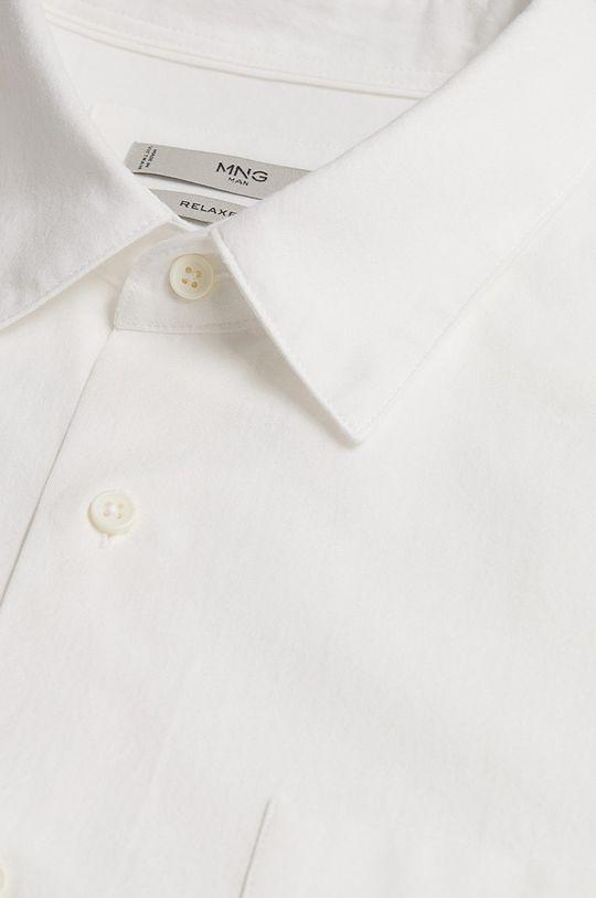 Mango Man - Koszula bawełniana Nadia biały