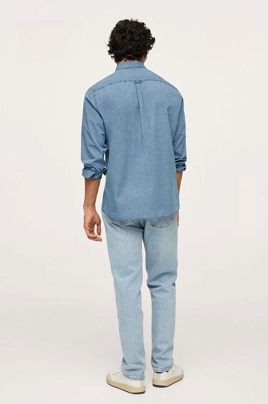 fialová Mango Man - Bavlněná košile Chambre1