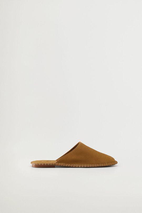 piaskowy Mango - Kapcie CANA Damski