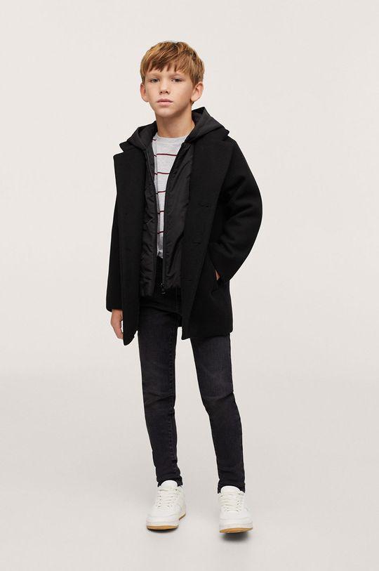 Mango Kids - Płaszcz dziecięcy Adam1 czarny