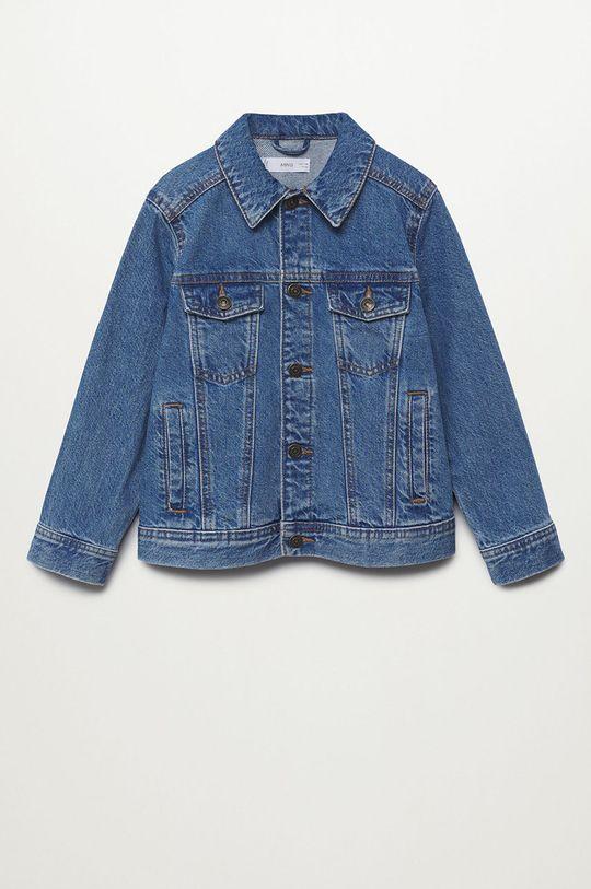 modrá Mango Kids - Dětská riflová bunda John 110-164 cm Chlapecký