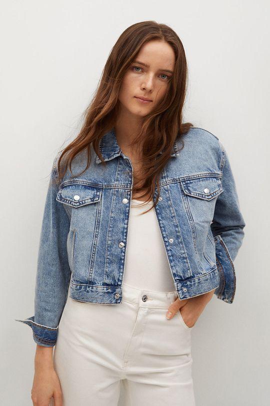 niebieski Mango - Kurtka jeansowa Mel Damski