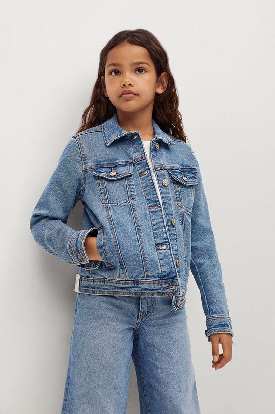 modrá Mango Kids - Dětská riflová bunda Allegra 122-164 cm Dívčí