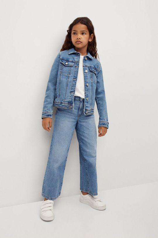Mango Kids - Dětská riflová bunda Allegra 122-164 cm modrá
