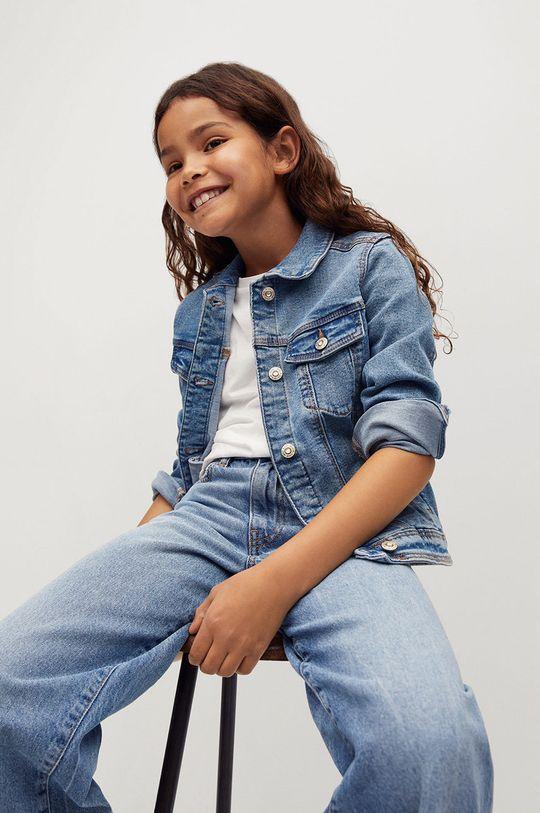 Mango Kids - Dětská riflová bunda Allegra 122-164 cm  99% Bavlna, 1% Elastan