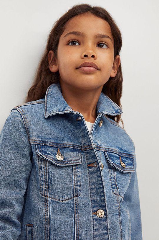 modrá Mango Kids - Dětská riflová bunda Allegra 122-164 cm