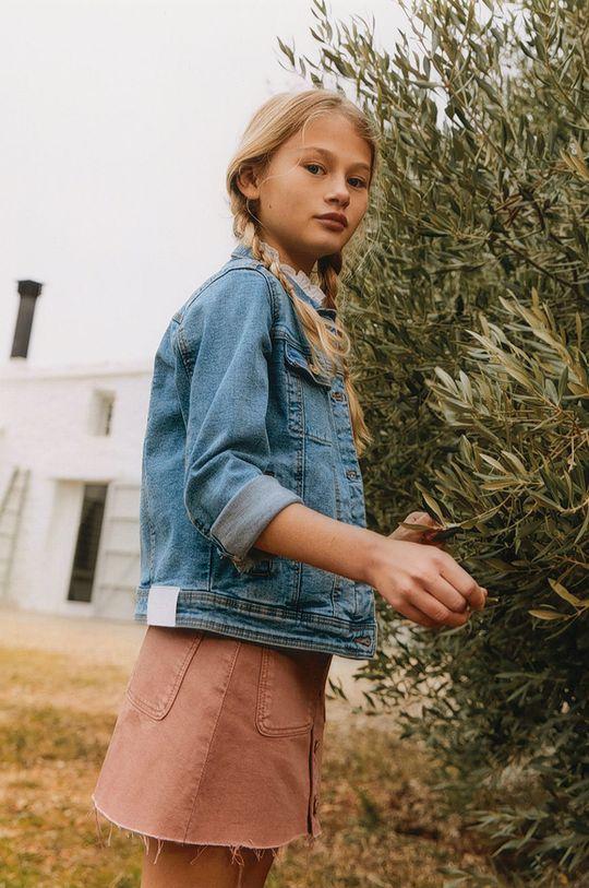 Mango Kids - Dětská riflová bunda Allegra 122-164 cm Dívčí