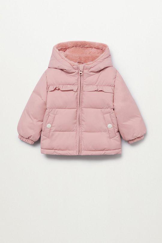 růžová Mango Kids - Dětská bunda JUNE Dívčí