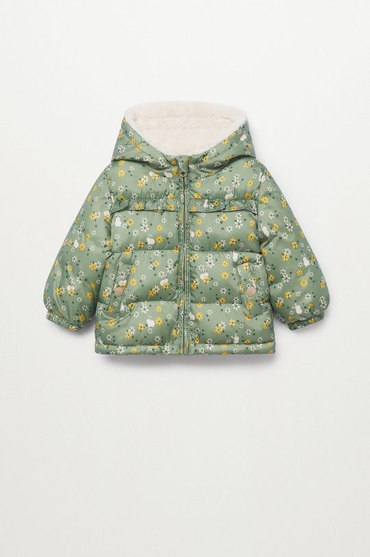 zlatohnědá Mango Kids - Dětská bunda JUNE Dívčí
