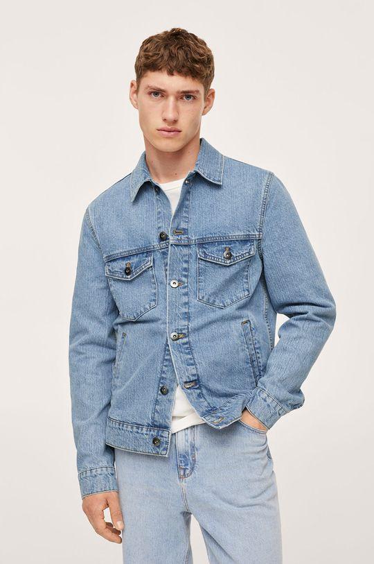 niebieski Mango Man - Kurtka jeansowa Ryan Męski
