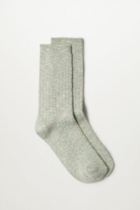 tyrkysová Mango - Ponožky Cotton Dámsky