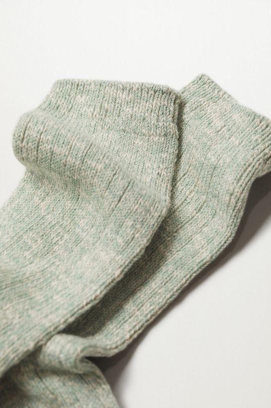 Mango - Ponožky Cotton tyrkysová