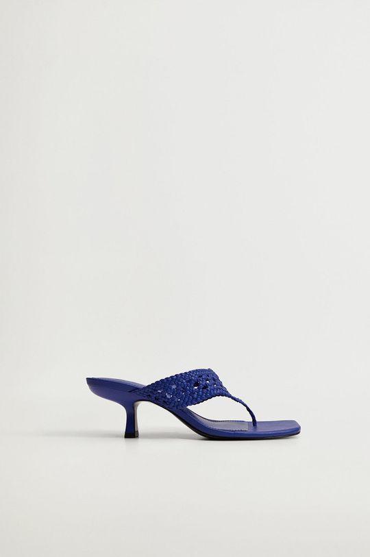 modrá Mango - Pantofle KNIT Dámský