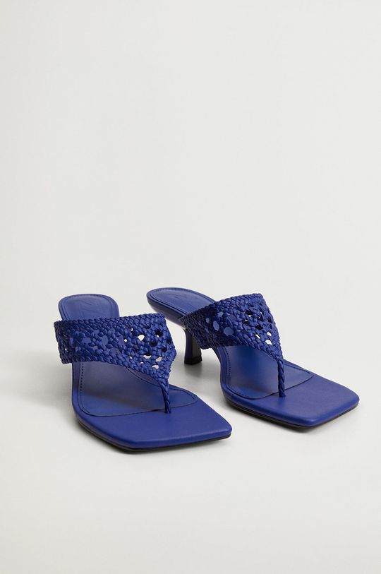 Mango - Pantofle KNIT modrá