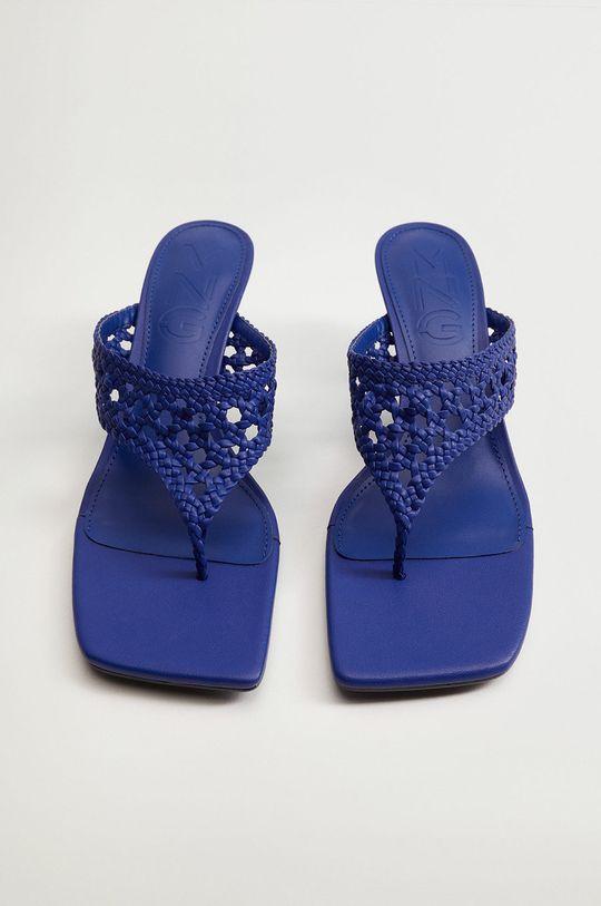 modrá Mango - Pantofle KNIT