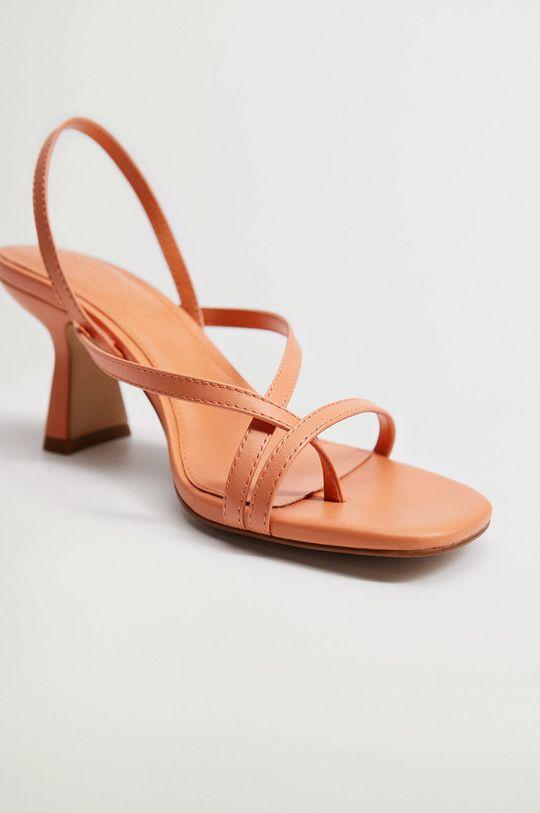 Mango - Kožené sandále YES  Zvršok: Kozia koža Vnútro: Syntetická látka Podrážka: Syntetická látka